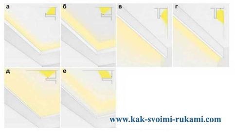 Как сделать потолок для светодиодной подсветки 887