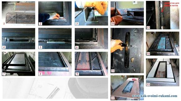 Как сделать дверь своими руками со стеклом 73