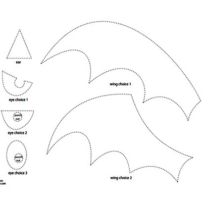 Как сделать крылья из бумаги летучей мыши