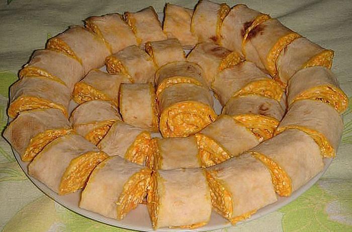 Рецепт приготовления лаваша с начинкой в домашних условиях 665