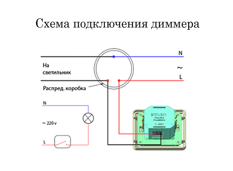 Схема подключения ламп через диммер