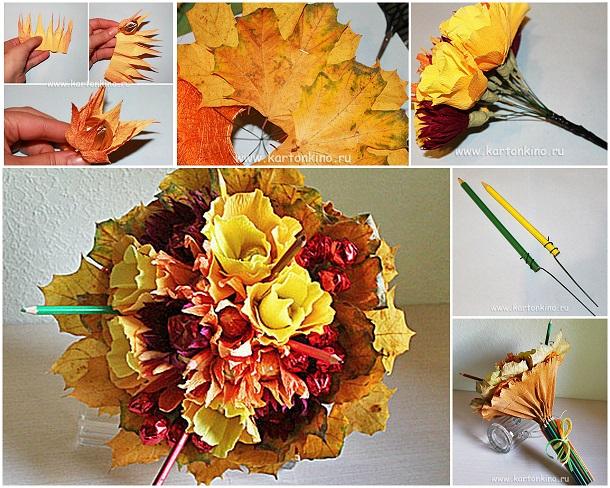 Осенний букет из конфет своими руками для начинающих