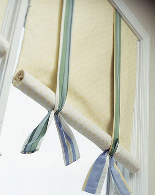 Шторы на балкон из ткани своими руками