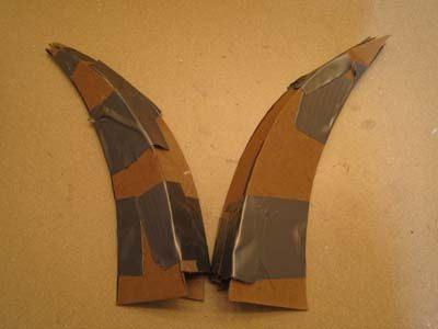 Как сделать рога чертика из бумаги