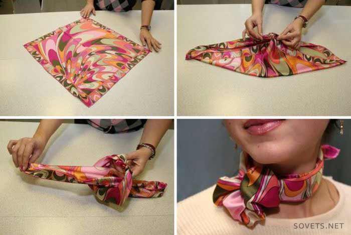 Завязать платок разными способами