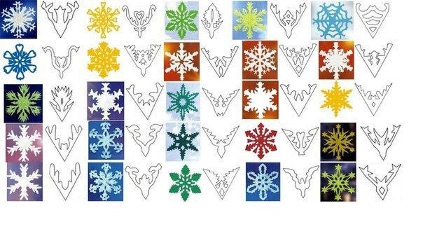 Трафареты новогодних снежинок из бумаги своими руками