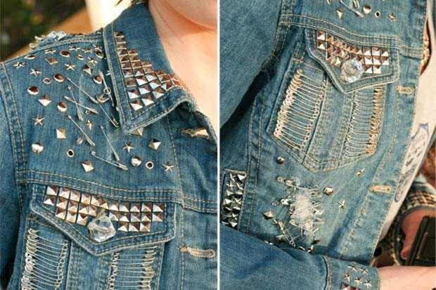 С чем украсить джинсовый пиджак своими руками