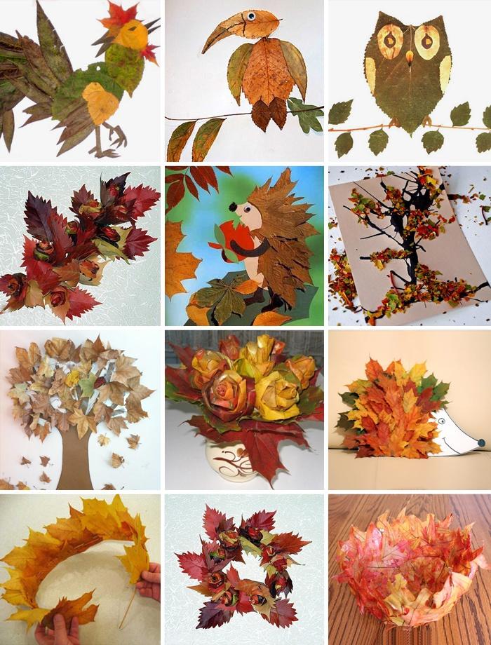 Поделки из листьев в детский садик
