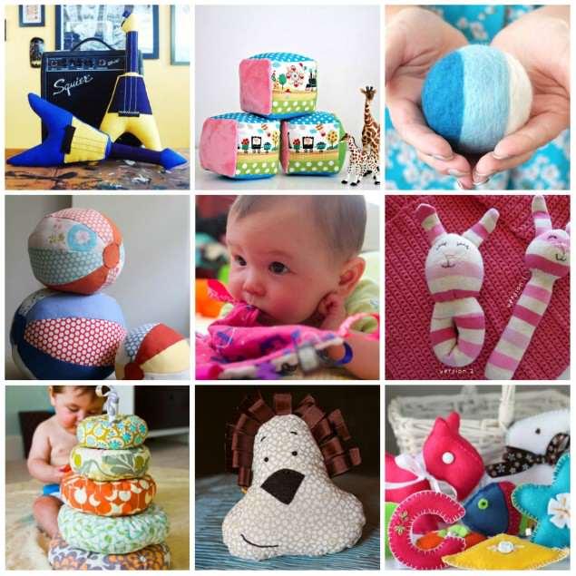 Развивающие игрушки для новорожденных своими руками