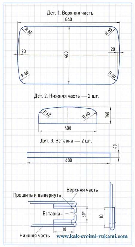 Универсальный чехол для стульев своими руками выкройки 45