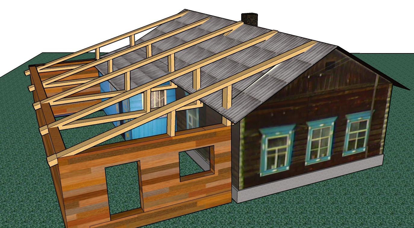 Крыша на пристройку к дому своими руками