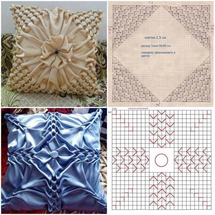 Декоративные подушки своими руками схемы мастер классы
