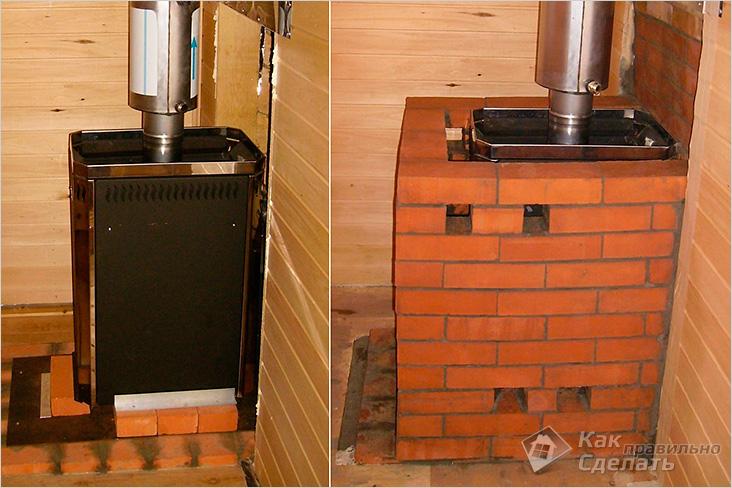 Железная печь в баню фото