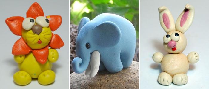 Животные из пластилина поделки