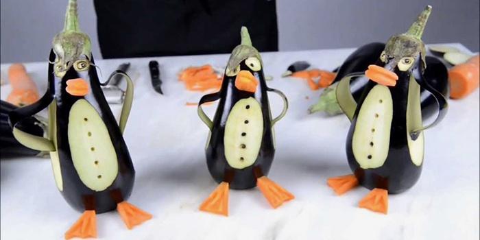 Пингвин из баклажана своими руками 303