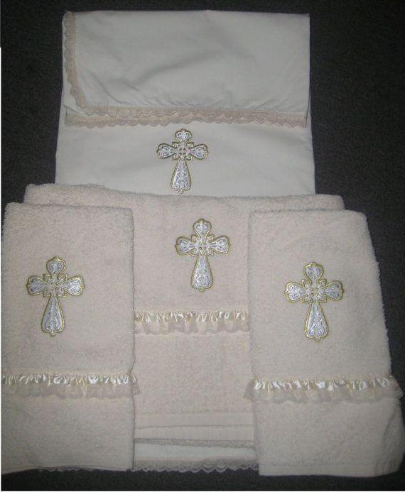 Полотенце для крещения своими руками 44