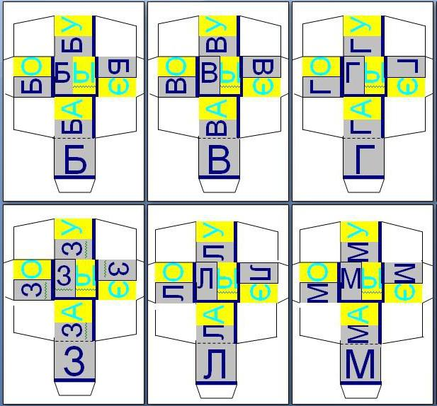 Буквы для кубиков своими руками 59