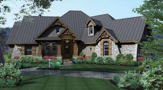 Якими достоїнствами володіє проект одноповерхового будинку з трьома  спальнями  96b47bab90456