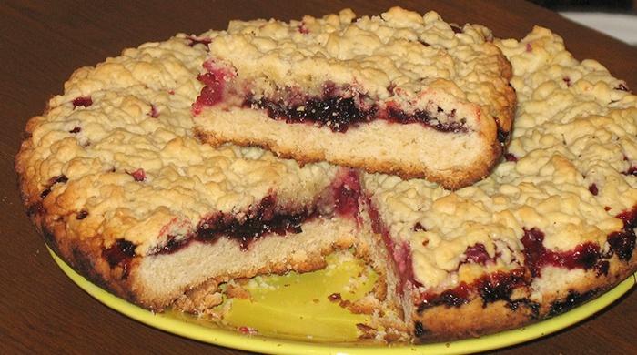 Песочное тесто пирог с вишней рецепт с фото пошагово в духовке