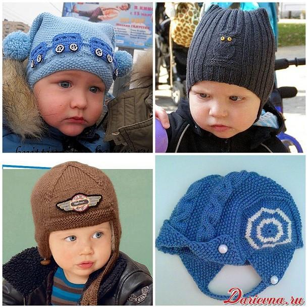 Як зв язати шапку для хлопчика спицями. Схеми 65688acad4939