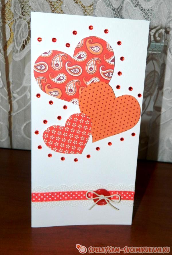 Как сделать открытку руки с сердцем