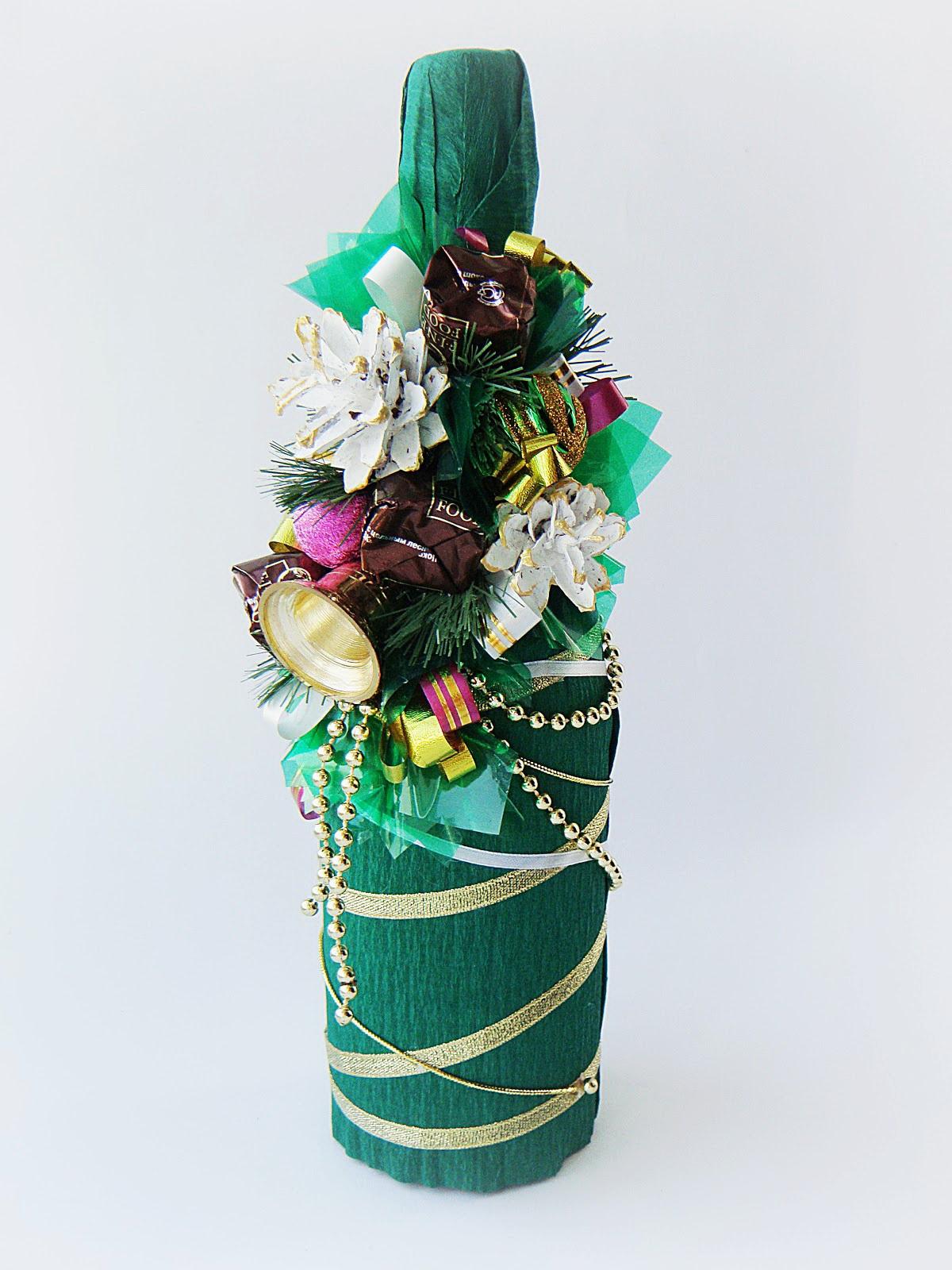 Мастер класс как украсить шампанское на новый год своими руками