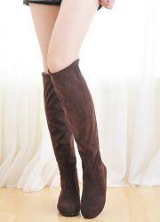 Зимние замшевые сапоги без каблука 7916a72aa19e2