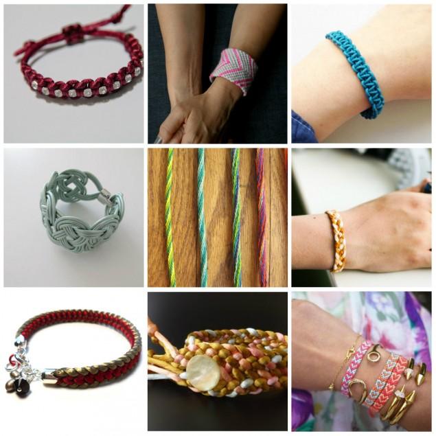Плетение модных браслетов своими руками 55