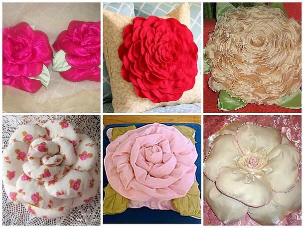 Подушки розы своими руками пошаговая инструкция 84