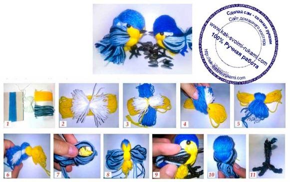 Сделать птичек своими руками пошагово