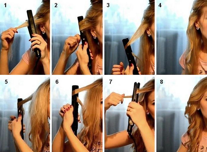 Как сделать мятые волосы