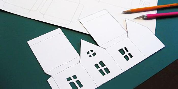Как сделать из бумаги объемный дом из