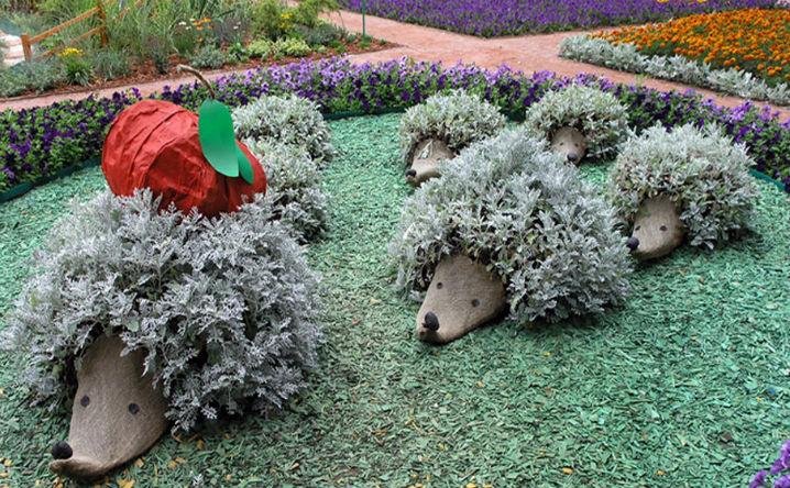 Декоративный ежик для сада своими руками 65