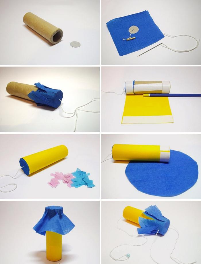 Как сделать из картона хлопушку