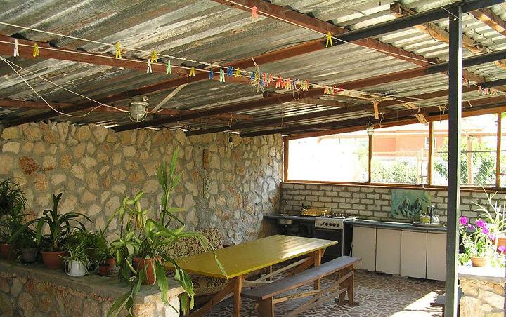 Летняя кухня под навесом фото