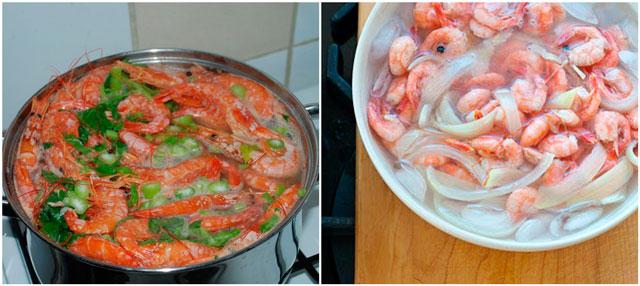 Как готовить креветки в салат
