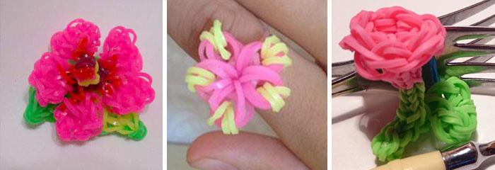 Как из резиночек сделать цветок из 135