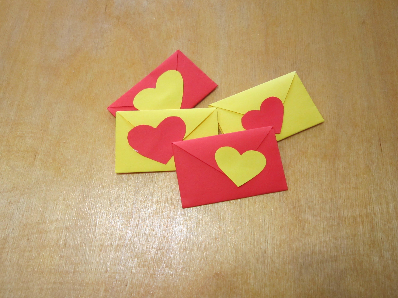 Как сделать своими руками из бумаги валентинки