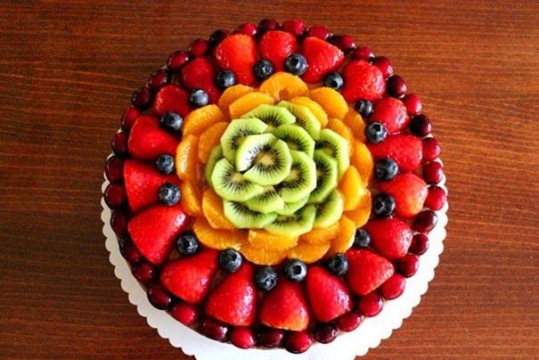 Декор торта фруктами