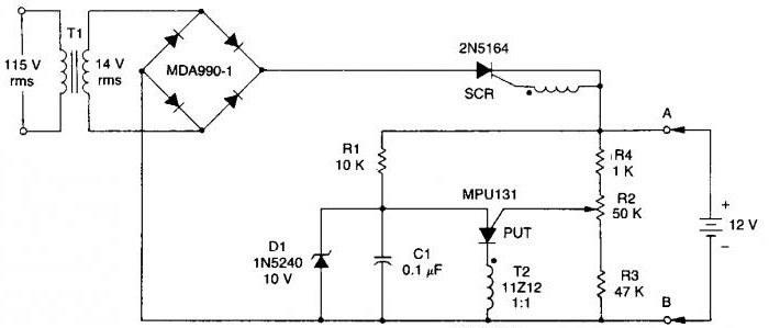 Зарядка для шуруповерта интерскол 12в схема