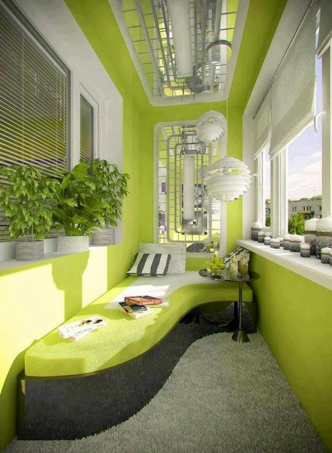 Цікаві ідеї оздоблення балкона і дизайну інтер'єру лоджії з .