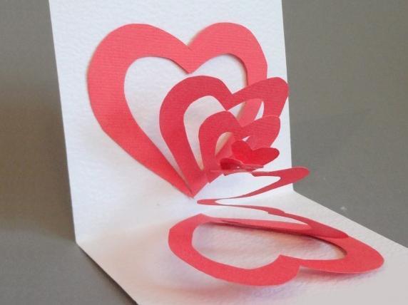 Валентинка для мамы из бумаги