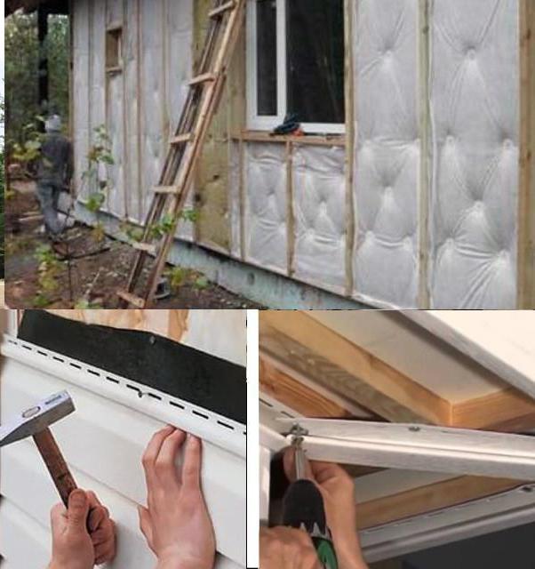 Установка сайдинга на потолок своими руками