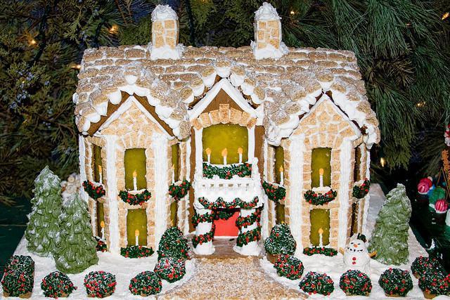 Зимний домик поделка своими руками