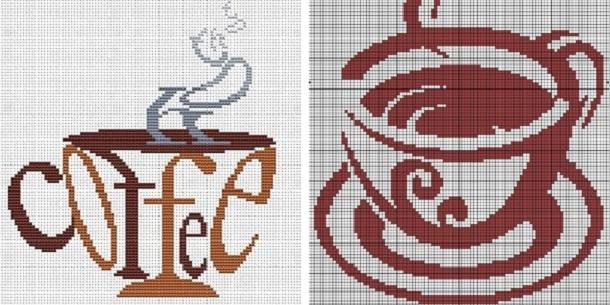 Вышивка кофейные схемы