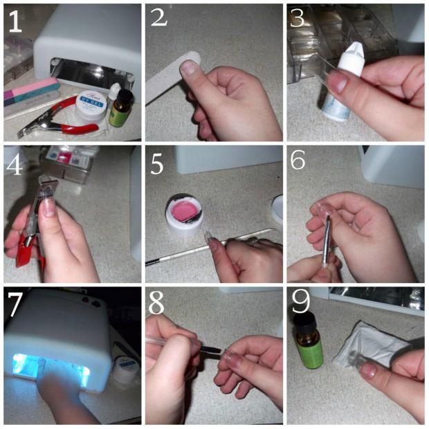 Укрепление ногтей гелем в домашних условиях пошаговая инструкция