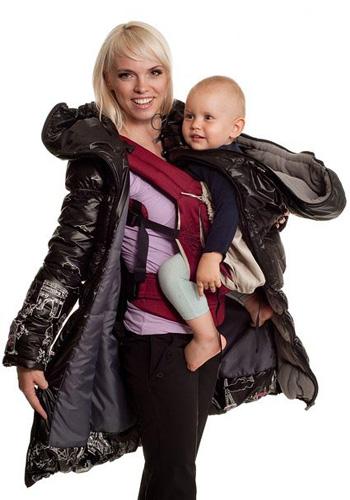 как одевать ребенка под слингокуртку зимой