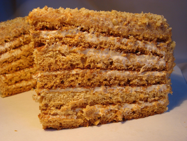 Рецепт с фото медовый торт со сгущенкой
