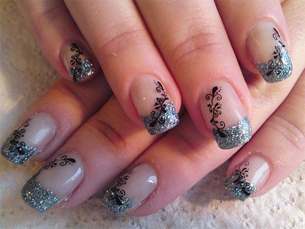 Фото рисунка на ногти нарощенные