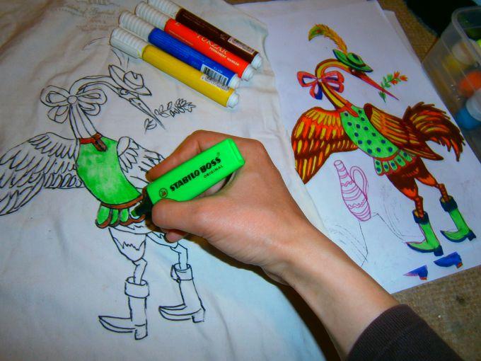 Как сделать рисунок из фломастерами